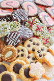 Colorful mix of decorated cookies. Royalty Free Stock Photography