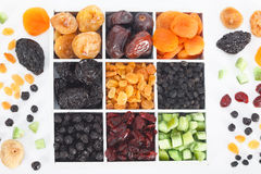 Colorful mix of dried fruit Stock Image