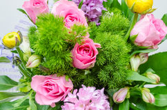 Colorful mix of flowers. May be used as background Royalty Free Stock Image