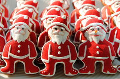 Colorful Mix Of Honey Cookies , Santa Claus shaped Stock Images