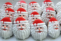 Colorful Mix Of Honey Cookies on a white plate , colorful , Santa Claus shaped Stock Photo