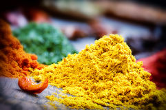 Colorful mix of spices Stock Photography