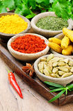 Colorful mix of spices Royalty Free Stock Photography