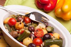 Colorful Mix Of Stewed Vegetables Stock Photos