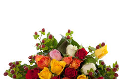 Colorful mixed bouquet roses Stock Photos