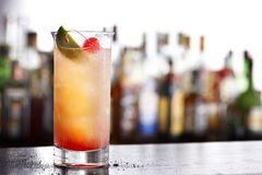 Colorful mixed drink Stock Photography