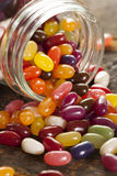 Colorful Mixed Fruity Jelly Beans Stock Photography