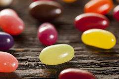 Colorful Mixed Fruity Jelly Beans Stock Photo