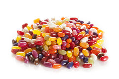 Colorful Mixed Fruity Jelly Beans Stock Image