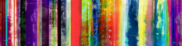 Free Colorful Mixed Media Stripes Banner With Added Straight Lines Pattern Stock Image - 151663081