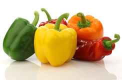 Colorful mixed paprika's (capsicum) Stock Image