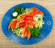 Colorful mixed salad Royalty Free Stock Photos