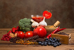 Antioxidants products Royalty Free Stock Photo