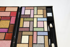 Colorful mixture of cosmetics. Mixture of cosmetics on white background Royalty Free Stock Image