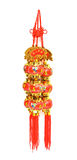 Colorful of mobile for blessing God in the Chinese. Isolated on a white background royalty free stock photos