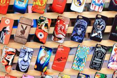 Colorful mobile case Stock Image