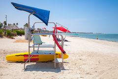 Colorful mobile lifeguard tower on the beach Royalty Free Stock Photo