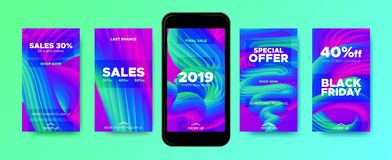 Colorful Mobile Phone Screen Wallpapers. vector illustration