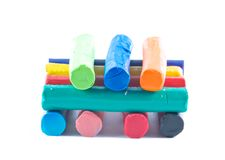 Colorful Modeling clay Royalty Free Stock Image