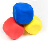 Colorful modelling clay Stock Image