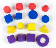 Colorful modelling clay Stock Images