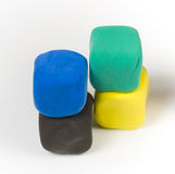 Colorful modelling clay royalty free stock photos