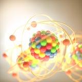 Colorful modelo molecular Fotos de Stock Royalty Free