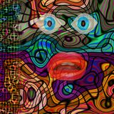 Colorful Modern abstract Face Illustration royalty free illustration