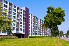Colorful Modern Apartment Building. New apartment building in a nice neighborhood Royalty Free Stock Images