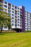 Colorful Modern Apartment Building. New apartment building in a nice neighborhood Stock Photography