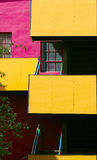 Colorful Modern Apartment House2. Close up of a colorful modern apartment house stock photos