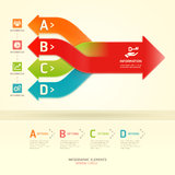 Colorful modern arrow circle options banner. Royalty Free Stock Photo