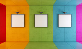 Colorful modern art gallery Stock Photo