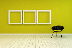 Colorful modern art gallery interior Stock Photo