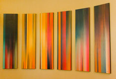 Colorful modern art at a gallery in vancouver Stock Images