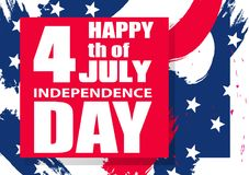 Colorful modern background for Independence Day USA 4th July for poster or banner. Vector. Illustration Royalty Free Stock Image