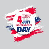 Colorful modern background for independence day USA 4th july. Set. Dynamic design elements for a flyer, sale, brochures, presentat. Ions, party etc. Vector Stock Illustration
