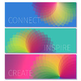 Colorful modern banner design template Stock Images