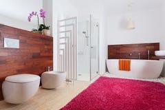 Colorful modern batroom Royalty Free Stock Image