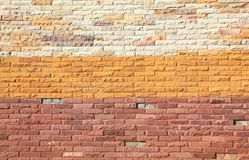 Colorful Modern Brick Wall Royalty Free Stock Photography
