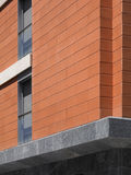 Colorful modern building facade with blue sky. Stock Photography
