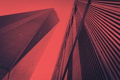Colorful modern buildings background New York City. Colorful modern tall buildings background New York City NYC Royalty Free Stock Photography
