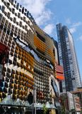 Colorful modern buildings in Melbourne. The Swanston building of the Royal Melbourne institute of technology (RMIT) in Melbourne in Australia Royalty Free Stock Photos