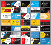 35 Colorful Modern business card Design template Royalty Free Stock Photos