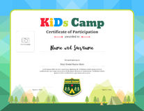 Colorful and modern certificate of participation for kids activities Stock Images