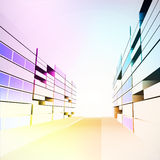 Colorful modern city street project development  Royalty Free Stock Image