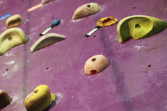 Colorful modern climbing wall details Stock Photos