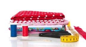 Colorful modern cotton fabrics Stock Image