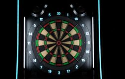 Take your darts and hit the target royalty free stock images