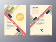 Colorful modern design flyer template vector Royalty Free Stock Images